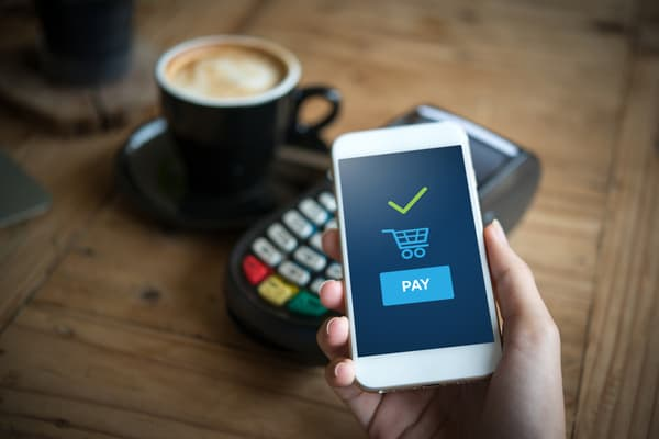 contactless-payment with phone and credit car processor